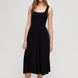 Aritzia Wilfred Free Black Midi Dress in XXS